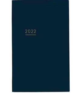 Jibun Techo Kokuyo - Zeitplaner 2022 - Lite Mini Diary - B6 Slim - Blue Navy