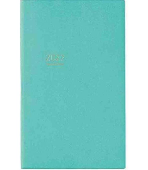Jibun Techo Kokuyo - Zeitplaner 2022 - Lite Mini Diary - B6 Slim - Türkis