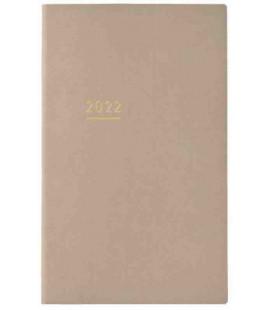 Jibun Techo Kokuyo - Zeitplaner 2022 - Lite Mini Diary - B6 Slim - Beige Farbe